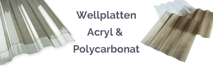 Polycarbonat Wellplatten und Acrylglas Lichtplatten