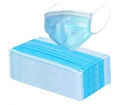 Staubschutzmasken 100 Stück Einweg 3-lagig Farbe: blau
